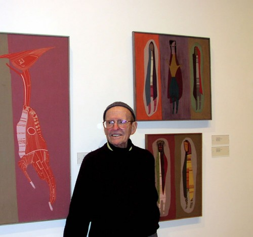 Norman Daly at the Herbert F. Johnson Museum exhibit in 2004