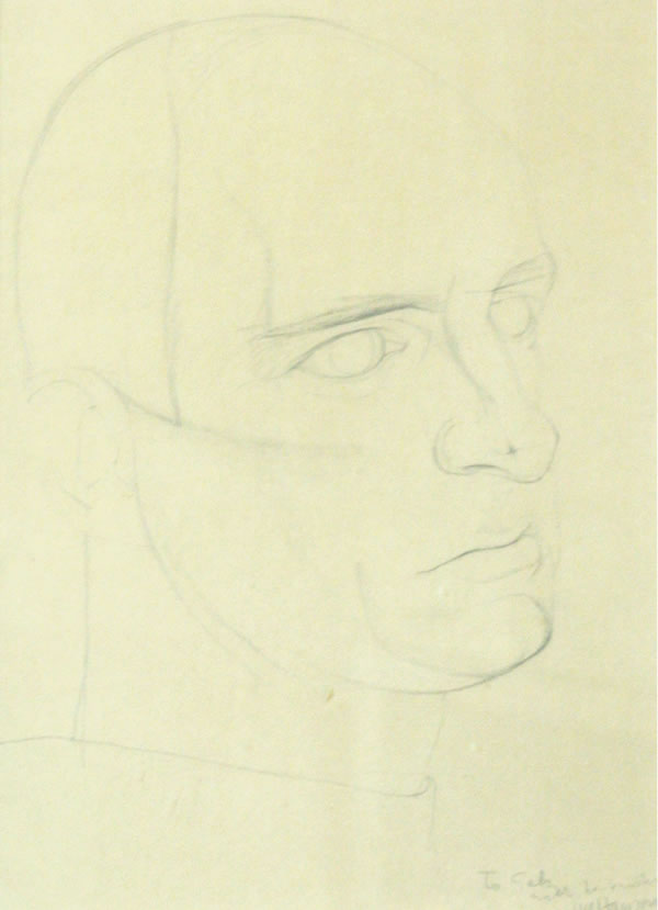Drawing of Norman Daly by Joseph Hanson