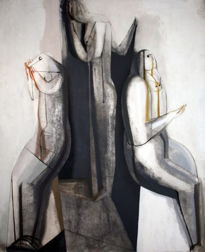 Three Figures, a painting by Joseph Hanson