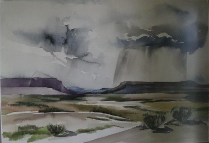 Early Work - Desert Landscape by Norman Daly
