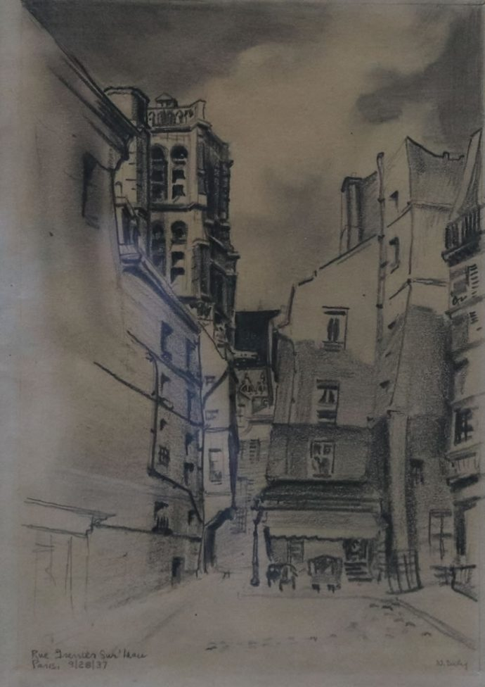 Street in Paris-A Student Work by Norman Daly